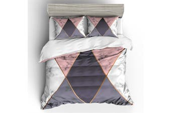 3D Geometry  Marble texture  Quilt Cover Set Bedding Set Pillowcases-Queen