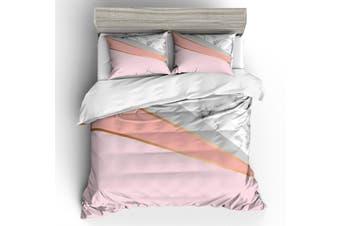 3D Pink-tones  Marble texture  Quilt Cover Set Bedding Set Pillowcases-Double