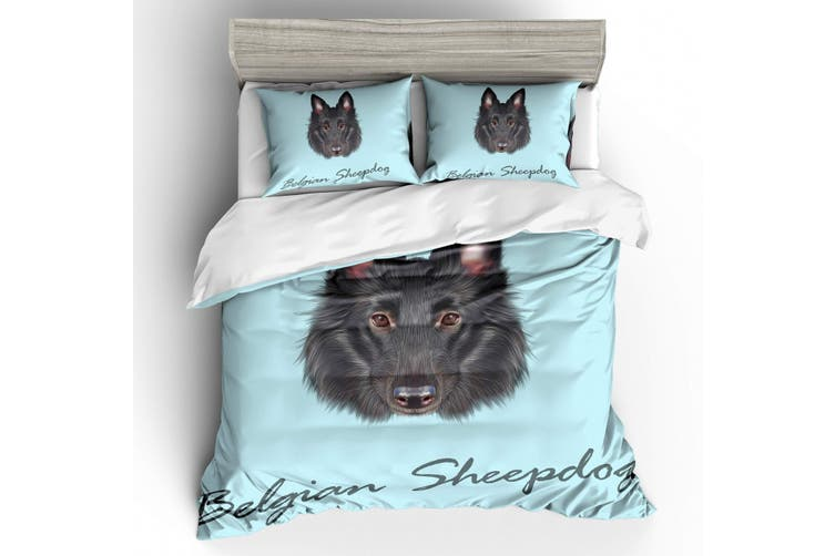 3D Dog  Samoyed  Quilt Cover Set Bedding Set Pillowcases-Double