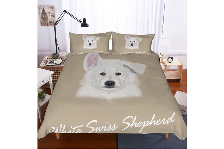 3D Cartoon  Samoyed  Quilt Cover Set Bedding Set Pillowcases JAD 2-King