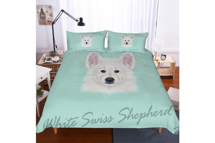 3D Cartoon  Samoyed  Quilt Cover Set Bedding Set Pillowcases-Double