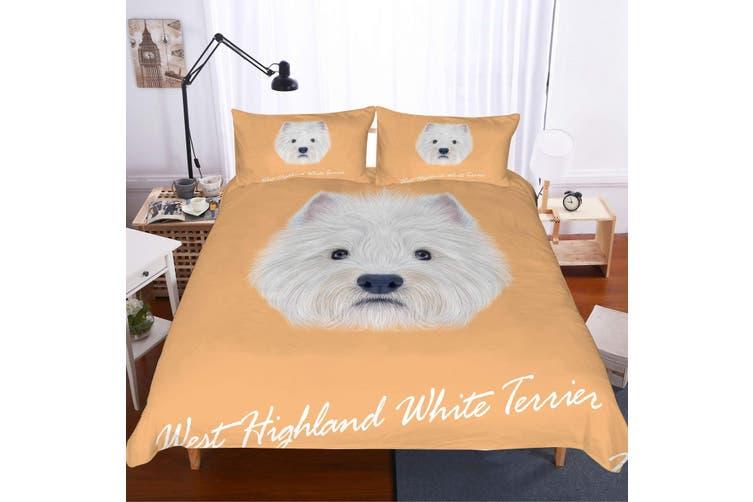 3D Cartoon dog  Quilt Cover Set Bedding Set Pillowcases-Single