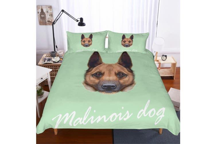3D German Shepherd dog Bedding Set Quilt Cover Quilt Duvet Cover Pillowcases Personalized  Bedding        -Queen