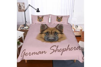 3D German shepherd  Quilt Cover Set Bedding Set Pillowcases-Single
