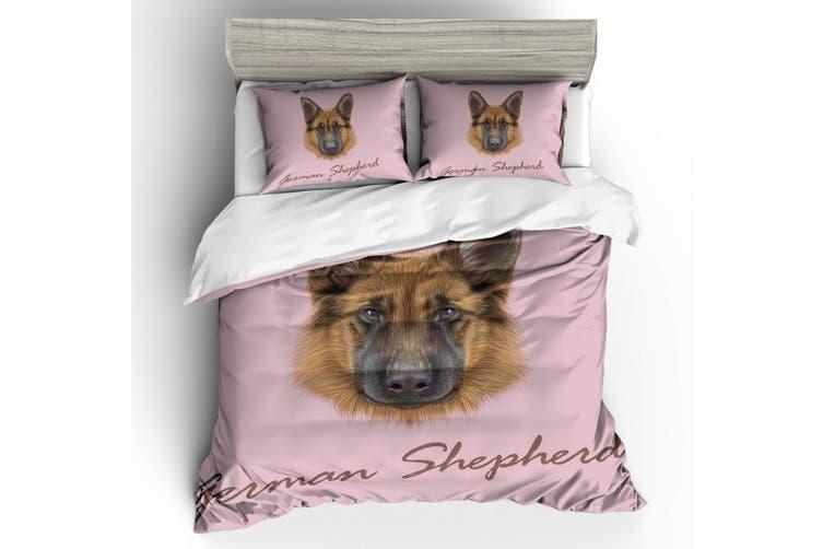 3D German shepherd  Quilt Cover Set Bedding Set Pillowcases-Double