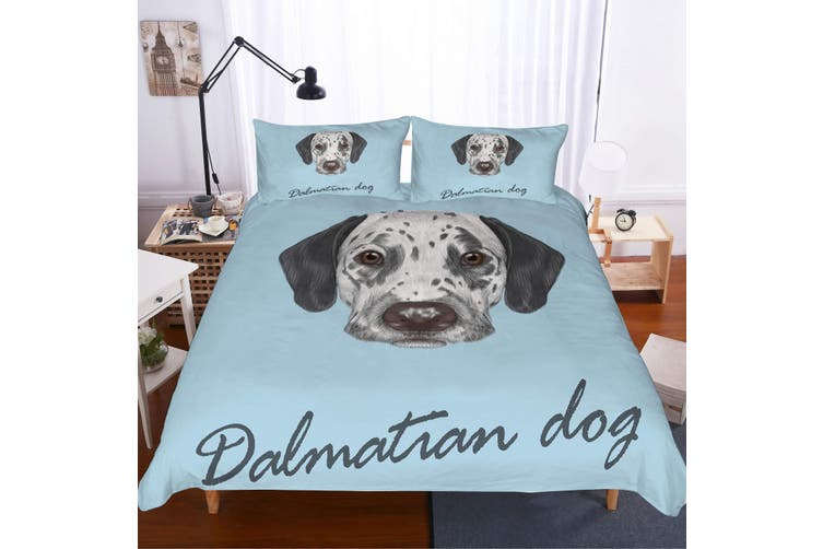 3D Dalmatian Bedding Set Quilt Cover Quilt Duvet Cover Pillowcases Personalized  Bedding        -Double