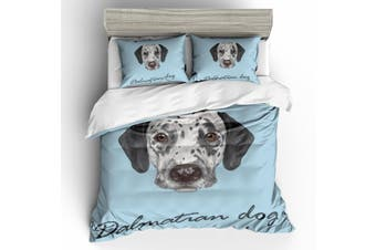 3D Dalmatian Bedding Set Quilt Cover Quilt Duvet Cover Pillowcases Personalized  Bedding        -King