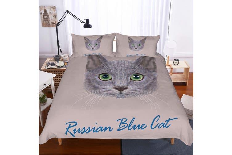 3D Cartoon  British shorthair  Quilt Cover Set Bedding Set Pillowcases-King