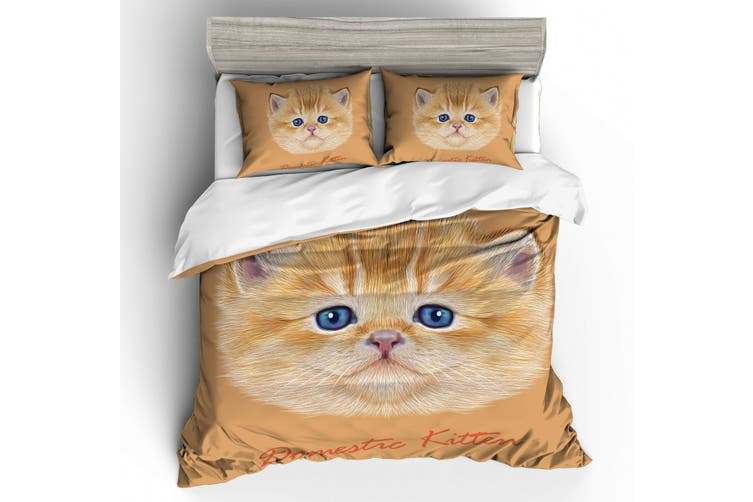 3D Cartoon  ExoticShorthair  Quilt Cover Set Bedding Set Pillowcases-Queen