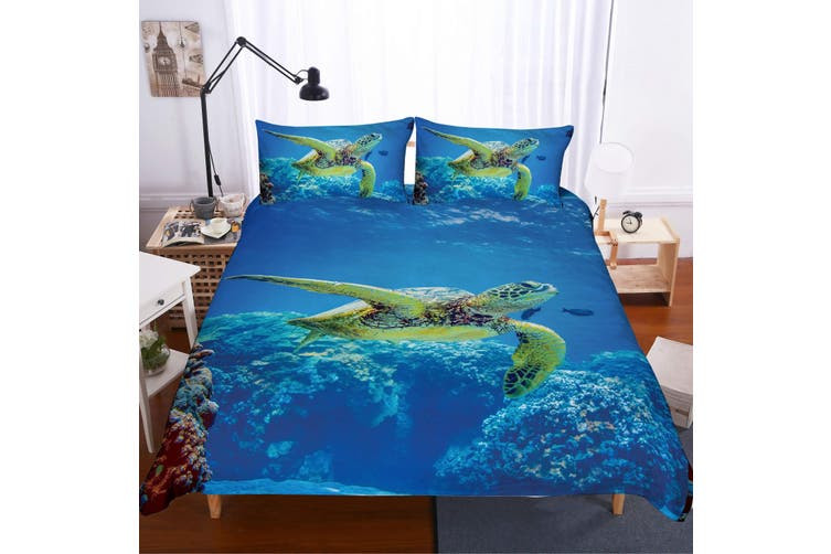 3D Sea world  Sea turtle Bedding Set Quilt Cover Quilt Duvet Cover Pillowcases JAD 2 Personalized  Bedding        -Double