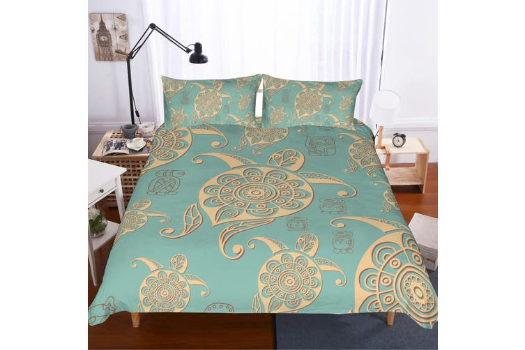 3D Abstract  Turtle  Quilt Cover Set Bedding Set Pillowcases JAD 2-Double