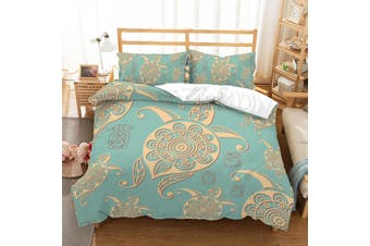 3D Abstract  Turtle  Quilt Cover Set Bedding Set Pillowcases JAD 2-Queen