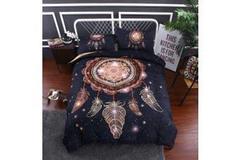 3D Dark Dreamcatcher Feather  Quilt Cover Set Bedding Set Pillowcases-Queen