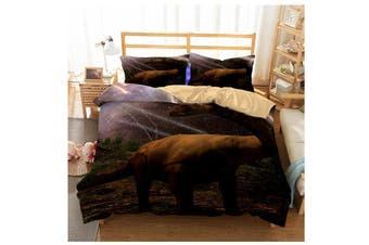 3D Stars  Dinosaur  Quilt Cover Set Bedding Set Pillowcases-Queen