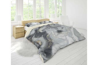 3D Cold-tones  marbled  Quilt Cover Set Bedding Set Pillowcases-King