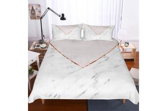 3D Minimalist style  Marble texture Set Quilt Cover Quilt Duvet Cover  Pillowcases JAD 5 JAD 5 Personalized  Bedding        -Queen
