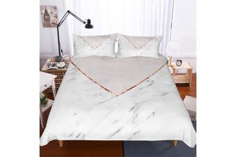 3D Minimalist style  Marble texture Set Quilt Cover Quilt Duvet Cover  Pillowcases JAD 5 JAD 5 Personalized  Bedding        -King