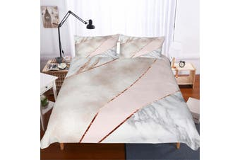 3D Minimalist style  Marble texture Set Quilt Cover Quilt Duvet Cover  Pillowcases Personalized  Bedding        -Single