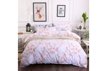 3D White Marble Bedding Set Quilt Cover Quilt Duvet Cover Pillowcases JAD 5 Personalized  Bedding       -Single