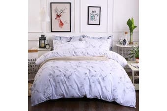 3D White Gray Marble Bedding Set Quilt Cover Quilt Duvet Cover Pillowcases Personalized  Bedding       -Single