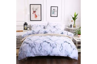 3D White Marble Bedding Set Quilt Cover Quilt Duvet Cover Pillowcases Personalized  Bedding       -Single