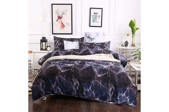 3D Black Marble Bedding Set Quilt Cover Quilt Duvet Cover Pillowcases Personalized  Bedding       -Single