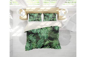 3D Tropical plant  Banana leaf Bedding Set Quilt Cover Quilt Duvet Cover Pillowcases Personalized  Bedding       -King