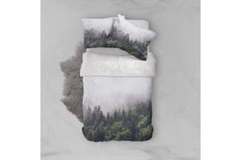 3D Dense fog  Pine forest Bedding Set Quilt Cover Quilt Duvet Cover Pillowcases Personalized  Bedding       -Single