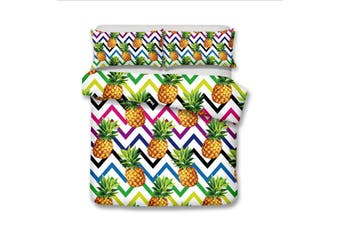 3D Colorful Pineapple  Bedding Set Quilt Cover Quilt Duvet Cover Pillowcases Personalized  Bedding       -King