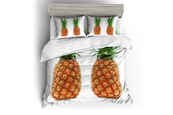 3D White  Pineapple  Bedding Set Quilt Cover Quilt Duvet Cover Pillowcases Personalized  Bedding       -Queen