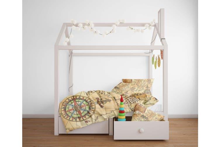 3D Vintage  Treasure map Bedding JAD2 Set Quilt Cover Quilt Duvet Cover Pillowcases Personalized  Bedding JAD2       -Double