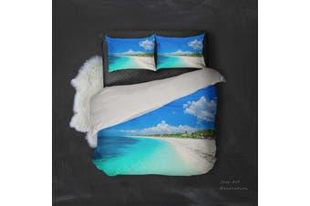 3D Summer  Beach Bedding Set Quilt Cover Quilt Duvet Cover Pillowcases Personalized  Bedding       -Single