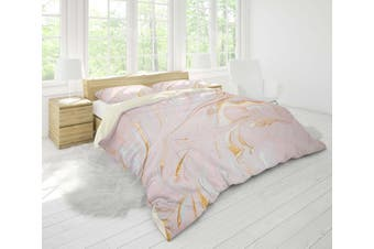 3D Pink-tones  marbled Bedding Set Quilt Cover Quilt Duvet Cover Pillowcases Personalized  Bedding       -Single