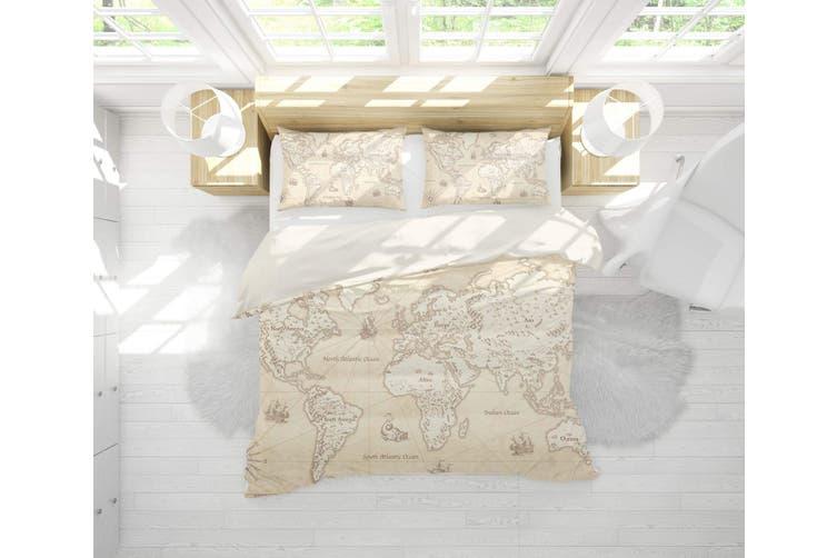 3D Vintage  World map Bedding JAD4 Set Quilt Cover Quilt Duvet Cover Pillowcases Personalized  Bedding JAD4       -King