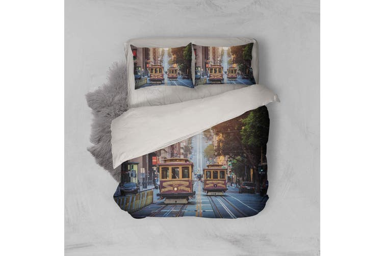 3D Streetcars  Street view Bedding Set Quilt Cover Quilt Duvet Cover Pillowcases Personalized  Bedding       -Double