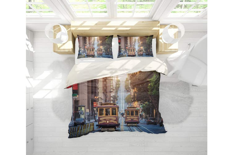 3D Streetcars  Street view Bedding Set Quilt Cover Quilt Duvet Cover Pillowcases Personalized  Bedding       -Queen