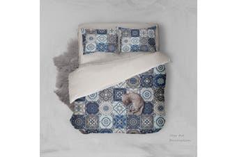 3D Blue-tones  National pattern Bedding JAD4 Set Quilt Cover Quilt Duvet Cover Pillowcases Personalized  Bedding JAD4       -Single