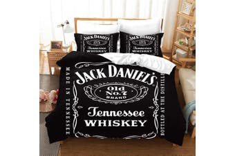 3D Black Jack Daniel's Whiskey Bedding Set Quilt Cover Quilt Duvet Cover Pillowcases Personalized  Bedding       -Single