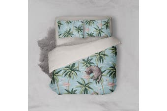 3D Tropical coconut tree Bedding JAD 8 Set Quilt Cover Quilt Duvet Cover Pillowcases Personalized  Bedding JAD 8       -Queen
