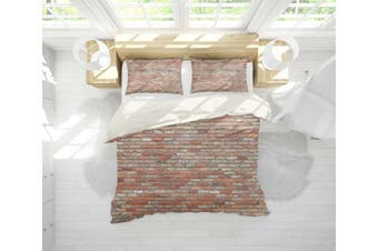 3D Old  Red brick Bedding JAD 9 Set Quilt Cover Quilt Duvet Cover Pillowcases Personalized  Bedding JAD 9       -Queen