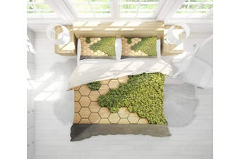 3D Wood grain  Moss plant Bedding JAD 11 Set Quilt Cover Quilt Duvet Cover Pillowcases Personalized  Bedding JAD 11       -Queen