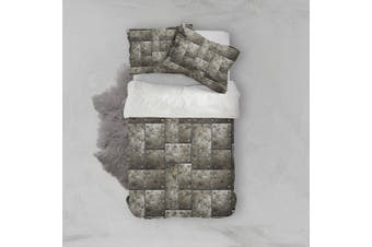 3D Iron sheet Bedding Set Quilt Cover Quilt Duvet Cover Pillowcases Personalized  Bedding       -Double