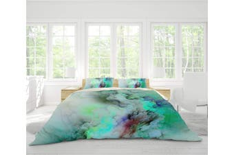 3D Green-tones  Smoke Bedding Set Quilt Cover Quilt Duvet Cover Pillowcases Personalized  Bedding       -Double