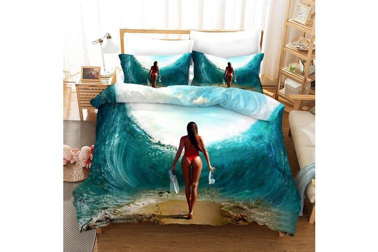 3D Bikini Beauty Quilt Cover Set Bedding Set Pillowcases 167-King