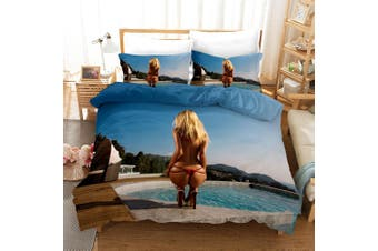 3D Bikini Beauty Quilt Cover Set Bedding Set Pillowcases 166-King