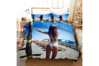 3D Bikini Beauty Quilt Cover Set Bedding Set Pillowcases 159-Queen