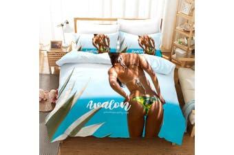 3D Bikini Beauty Quilt Cover Set Bedding Set Pillowcases 153-Queen