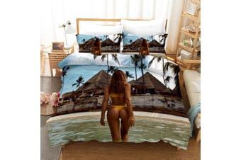 3D Bikini Beauty Quilt Cover Set Bedding Set Pillowcases 152-Single