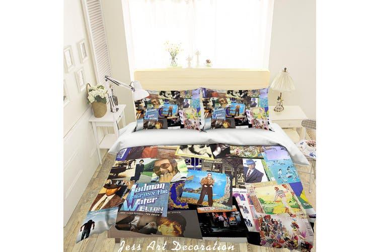 3D Rock Star Elton John Quilt Cover Set Bedding Set Pillowcases 29-Double