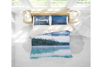 3D Lake Forest Scenery Quilt Cover Set Bedding Set Pillowcases 154-Single